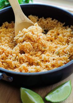 This Mexican Rice is so delicious! It's a perfect side to complement any Mexican inspired dish! (I usually like to serve it with my Honey Lime Chicken Enchiladas) Yum!      My little Kallen LOVES this rice. He can never get enough! It's always a big hit with the rest of us as well. From start to finish it's …