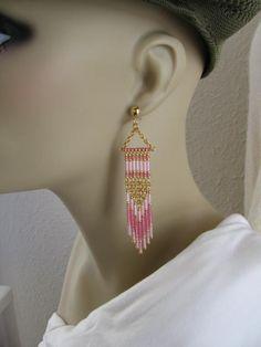 Seed Bead Earrings  Modern Native American Style  by pattimacs, $20.00