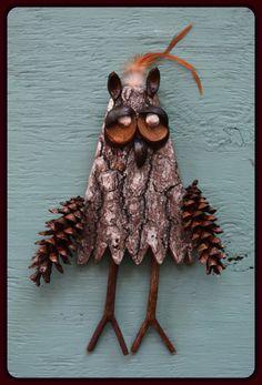Bark Owls by SpiritTall on Etsy