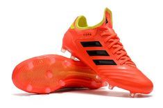 Botas de fútbol adidas Copa 18.1 FG - Naranja Negro b2bd9102c2cde