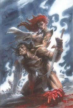 Red Sonja by Jim Lee and Gabriele Dell'Otto