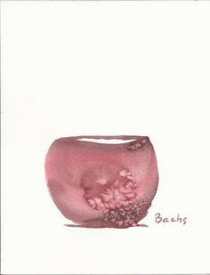 Round Bowl in Scarlet and cloud by Artbachs on Etsy, €14.80