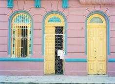 Colourful buildings havana cuba