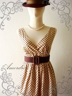 I am kind of in love with this dress...Amor Vintage Inspired Vintage Retro Polka Dot by Amordress on Etsy