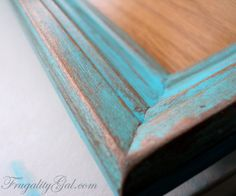 """DIY Distressed Frame Tutorial using """"tools"""" that we all have at home. If you have a sock, a nail file and a paint brush you can easily tackle this project!"""