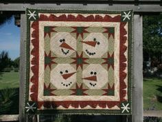free snowman quilt patterns | More information about Free Snowman Quilt Patterns on the site: http ...