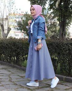 Style Hijab Casual Gendut 66 Ideas For 2019 Hijab Casual, Hijab Chic, Islamic Fashion, Muslim Fashion, Modest Fashion, Fashion Outfits, Hijab Fashionista, Modest Dresses, Modest Outfits