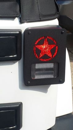 """""""Military Star""""Jeep Wrangler Jk model tail light guards. 2pc set includes free shipping!"""