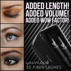 From 'okay' to 'OH WOW'! www.youniqueproducts.com #fiberlashes #youniqueproducts #mascara