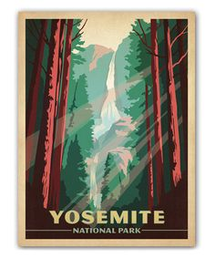 This 'Yosemite National Park' Wall Art by Anderson Design Group is perfect! I