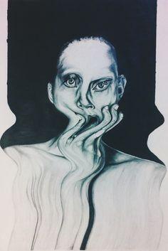 drawing art anxiety surreal mental illness realism pencil drawing ...