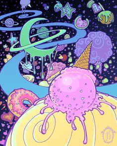 Sugar Sweet Galaxy by raevynewings