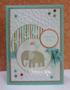 HAPPY HEART CARDS: JAI #199: BABY CARD USING STAMPIN' UP! ZOO BABIES