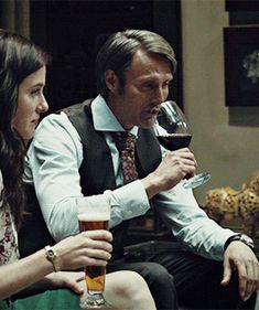 """Hannibal served Dr. Bloom a beer that he personally aged """"for two years"""" in a Cabernet Sauvignon barrel, at which time Bryan Fuller tweeted that """"beer is people!"""" We know that two years is the same amount of time since the disappearance of Miriam Lass. There's a connection?"""