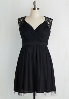 All Manners of Merriment Dress. Be it a charity gala or an evening soire, this black dress will make any occasion elegant! #black #prom #modcloth