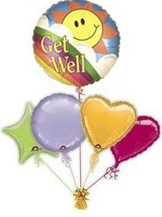 """Send your best wishes with a fabulous Get Well Soon """"Sunshine"""" balloons by post. Lots of get well balloons to choose from. Helium filled get well balloons by post! Free post on all orders, guaranteeing a great surprise. Happy 13th Birthday, 65th Birthday, Special Birthday, Happy Birthday Cards, Friend Birthday, Birthday Wishes, Birthday Cakes, Birthday Smiley, Birthday Celebration"""