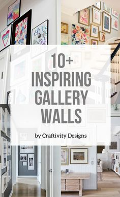 Gallery wall inspiration for a living room, bedroom, entry way, and more. simple art and picture hanging ideas for a DIY gallery wall! Hanging Pictures On The Wall, Hanging Artwork, Hang Pictures, Hanging Picture Frames, Picture Wall, Creative Wall Decor, Creative Walls, Wall Groupings, Frames On Wall