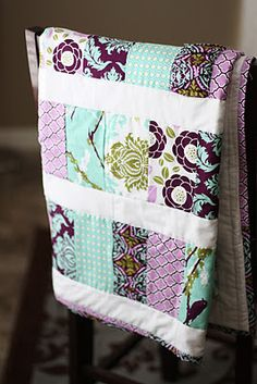 Ruffle quilt pattern from Yards and Yards.  Joel Dewberry fabric
