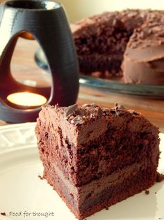 Food for thought: Devil's food cake / Το κέικ που τρώει ο διάβολος Cookie Dough Pie, Devils Food, Cake Recipes, Sweet Tooth, Recipies, Sweets, Cookies, Chocolate, Desserts
