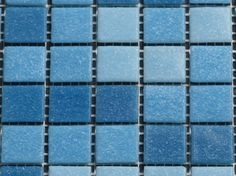 Zwembad mozaïek  blauw