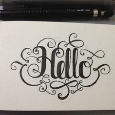 Hello #lettering #calligraphy #typography #type #art #illustration #design #graphicdesign #freehand #tattoo #tattoos #moleskine #designer #illustrator #sketch #graffiti #style #clothes #clothing
