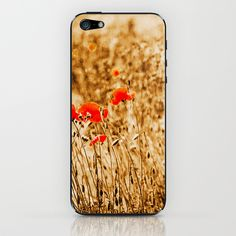 field of Poppies/Mohnfeld iPhone & iPod Skin by Karl-Heinz Lüpke - $15.00