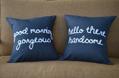 "18""X18""  Flirty Couple Pillow Covers - Set of 2"