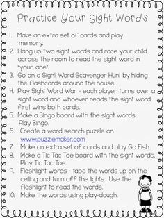 Freebielicious: Sight Words