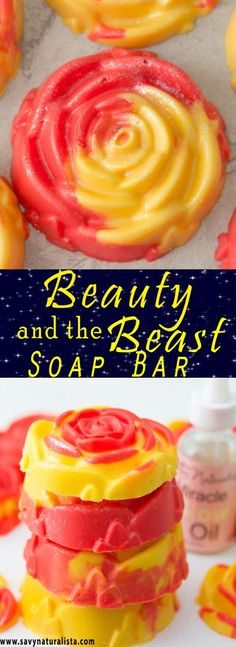 Make this easy Beauty and the Beast Soap! It only requires a few ingredients to make this festive fruity soap!