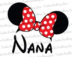 Disney Iron On Transfer NANA Minnie Ears by TwelveBradburyLane, $3.95