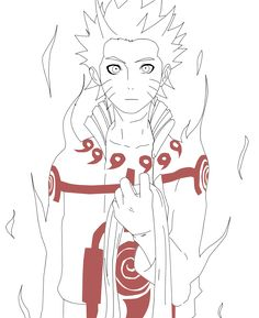 Naruto Six Path Lineart by Advance996