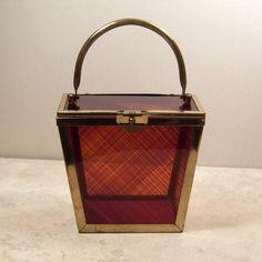 lucite purses | 1950's Lucite Box Purse
