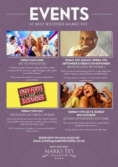 Best Western Marks Tey Hotel Events