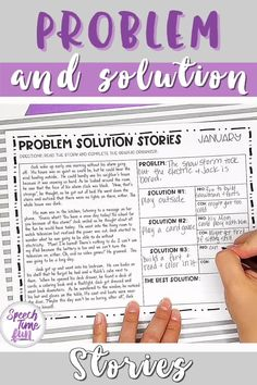 Want a way to work on problem and solution at the story level without the prep? Want more activities for your older speech and language students?! Use this print and go pack throughout the entire year! Help your speech and language students grasp problem solution and build confidence!