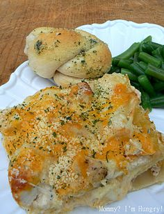 Cheesy chicken ranch lasagna