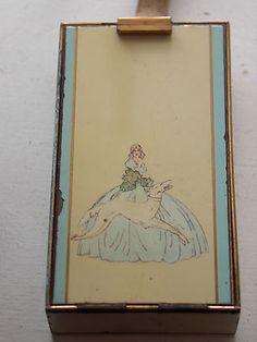 VINTAGE COMPACT/CIGARETTE CASE PARKLANE L S M -D R G M 1384716 GERMANY Vintage Cigarette Case, Lipstick Case, Victorian Women, Muted Colors, Monochrome, Compact, Smoking, Powder, Perfume Bottles