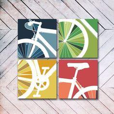 Bike Art Canvas Set – Famous Last Words Bicycle Art, Bicycle Design, Bmx, Orange County, Velo Biking, Cycling Art, Cycling Quotes, Cycling Jerseys, Cycling Motivation