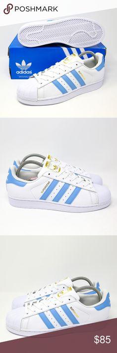 Adidas Superstar Blau Weiß Gold bih