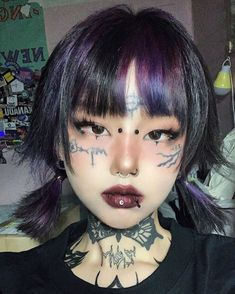 Aesthetic Hair, Aesthetic People, Aesthetic Makeup, Edgy Makeup, Makeup Art, Hair Makeup, Makeup Style, Lolita Makeup, Grunge Makeup