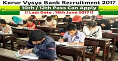 Karur Vysya Bank – (KVB) Online Applications from, those people satisfying certain pre define requirements for filling current job for the Post of Probationary Officers (Scale I cadre). Interested applicants need not get worried as associated details regarding the Karur Vysya Bank Recruitment 2017 – 2018 is provided and explain here. Interested aspirants people can …