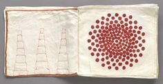 """patternprints journal: PATTERNS WITH FABRIC SCRAPS INTO THE BOOK """"ODE A L'OUBLI"""" BY LOUISE BOURGEOIS"""
