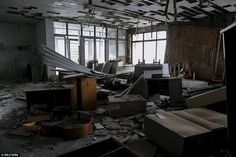 On April 1986 a radioactive release 10 times bigger than Hiroshima occured at the Chernobyl nuclear power station Chernobyl Nuclear Power Plant, Chernobyl Disaster, Ghost City, Ghost Towns, Nuclear Disasters, Abandoned Houses, 30 Years, Building, Places