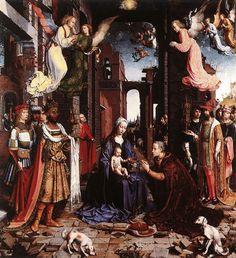 MABUSE, (Jan Gossaert) Flemish Northern Renaissance (ca1478-1532)_The Adoration of the Kings 1500-1515
