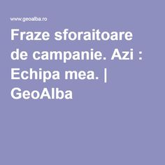 Fraze sforaitoare de campanie. Azi : Echipa mea.   GeoAlba Boarding Pass, Blog, Blogging