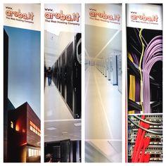 I nostri Data Center raffigurati sui totem dello stand Aruba allo Smau Milano
