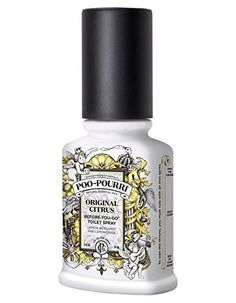 Poo-Pourri Toilet Spray leaves your bathroom smelling fresh and clean. Simply spray the water in the bowl with Poo-Pourri Toilet Spray before using the toilet to prevent odors before they begin! Poo Pourri, Bathroom Gadgets, Bathroom Ideas, Toilet Spray, Thing 1, Natural Essential Oils, Air Freshener, Secret Santa, Smell Good