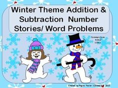 Print and Go! This packet contains winter theme number stories with addition and subtraction word problems within ten. Students will draw pictures and write equations to solve problems.
