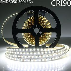 LightingWill LED Rope Lights CRI90 SMD5050 16.4Ft(5M) 300LEDs Nature White 4000K-4500K 60LEDs/M DC12V 72W 14.4W/M 10mm White PCB Flexible Ribbon Strip with Adhesive Tape Non-Waterproof H5050NW300N *** You can find out more details at the link of the image. (This is an affiliate link) #HomeDecorIdeas