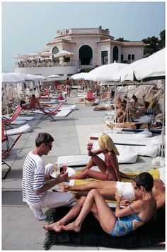 Great fantastical moment captured by an uncredited photographer at a resort in Cap Eden Roc, France - 1969.