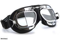 NEW HALCYON MK49 GOGGLES Motorcycle Car Vintage Racer TT Classic British Aviator #Halcyon